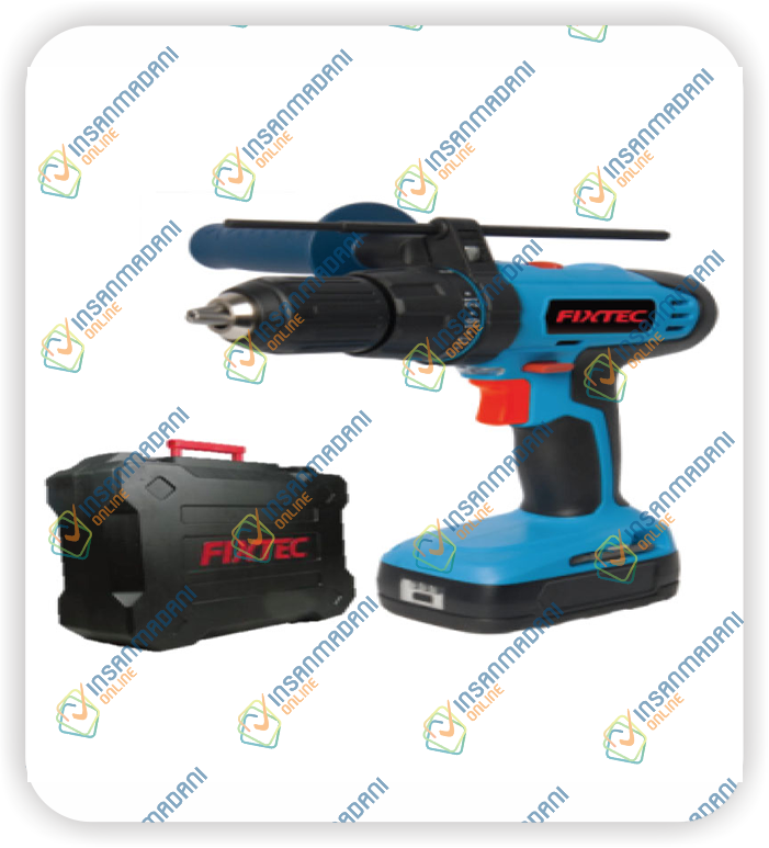 18V Cordless Hammer Drill, Two Battery