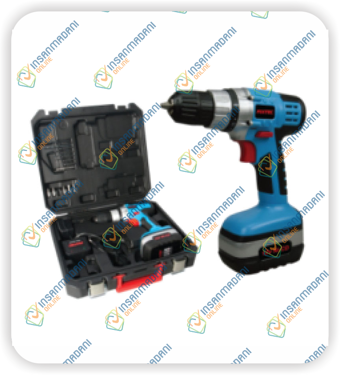 12V Cordless Drill, Two Battery, 550 rpm