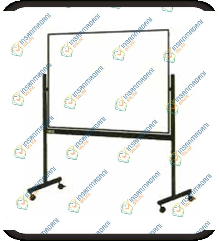 White Board Standard 2 Muka Bermagnet 240 cm